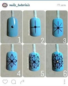 Step by Step Nail Art Hacks, Nail Art Diy, Easy Nail Art, Bird Nail Art, Flower Nail Art, Accent Nail Designs, Cool Nail Designs, Nail Manicure, Diy Nails