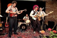 Jessica and Peter's spectacular carnival-themed wedding : Peter's band Reaganomics, which included his best man, played the earlier set of '80s covers and his pals The Swillingtones of Windsor played a late night set.