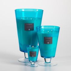 Illuminaria Vase Candle Jar - Aqua