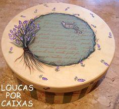 Caixa lavanda com carimbos para artesanato - Loucas por caixas - Terra Fotolog
