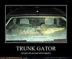 Redneck Car Security System