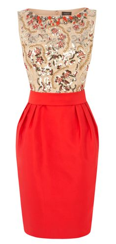 Such a festive Boxer red dress for the holidays!