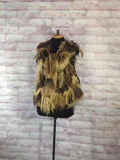 Wild vest nuno felt vest eco dyeing eco fur Felt fashion