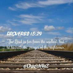"""Proverbs 15-29 """"The Lord is far from the wicked: but he heareth the prayer of the righteous."""" #KingJamesVersion #KingJamesBible #KJVBible #KJV #Bible #BibleVerse #BibleVerseImage #BibleVersePic #Verse #BibleVersePicture #Picture #Pic #Image #KJVBibleVerse #DailyBibleVerse"""