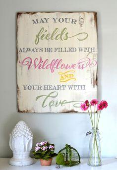 """Wildflowers"" Wood Sign {customizable}"