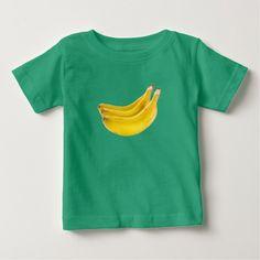 Grupo de saludables plátanos playera para bebé