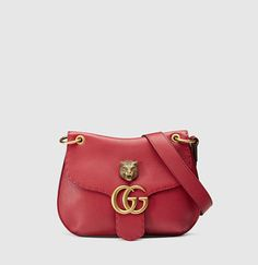 Gucci - GG marmont leather shoulder bag 409154A7M0T6339
