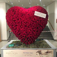 Rose hjerte som stod ved inngangen