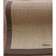 nuLOOM Handmade Alexa Eco Natural Fiber Cotton Border Sisal Rug (5u0027 x 8u0027)  (Brown), Size 5u0027 x 8u0027