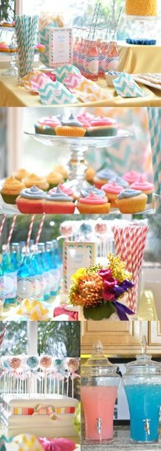 Gender reveal ideas - love the colors