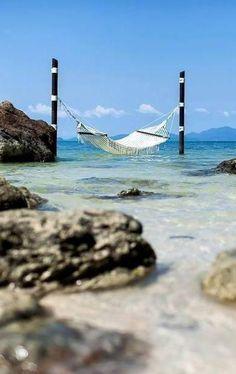 Oceanside hammock at Four Seasons Resort Koh Samui, Thailand