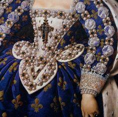 Frans Pourbus Portrait of Marie de Medicis Detail