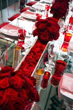 Indian Weddings Inspirations. Red Tablescape. Repinned by #indianweddingsmag indianweddingsmag.com #table #decor #redwedding