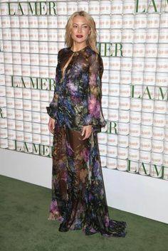 Und noch einmal ein schönes Blumenkleid: Kate Hudson beim La-Mer-Event.