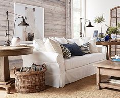 Create the perfect seating arrangement with the right sofas, sectionals or arm chairs. Shop Pottery Barn for fabric sofas and sectionals that are comfortable and versatile. Coastal Living Rooms, Living Room Shop, Living Room Designs, Furniture Decor, Living Room Furniture, Living Room Decor, Furniture Online, Antique Furniture, Comfortable Living Rooms