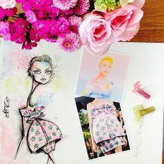 fashion illustration by jamie lee reardin Dress by marykatrantzou