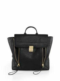 KARA - Mesh   Leather Backpack White Leather Backpack c8c4626663414