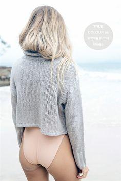 Grey Turtleneck Knit   SABO SKIRT