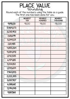 Place Value Into The Millions - Worksheet Pack Grade 5 Math Worksheets, Hindi Worksheets, Printable Math Worksheets, 4th Grade Classroom, 5th Grade Math, Teaching Place Values, Expanded Form, The Millions, Numeracy
