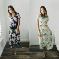 ad These floral wrap dresses are fabulous! Light, airy and just the right length! Only $29 shipped!