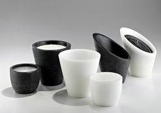 candele linea design - candele black and white