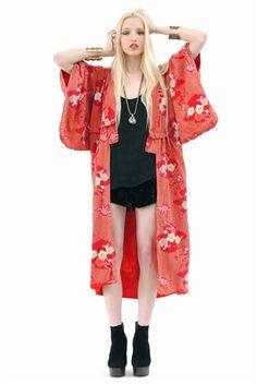 Tallulah Floral Crane Kimono: $188