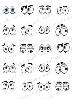 nail decals *silly cartoon eyes* water slide nail decals comical eyes 20 Nail Decals Silly Cartoon Eyes Water Slide Nail Decals Comical EyesComical Comical may refer to: Cartoon Eyes, Cartoon Drawings, Art Drawings, Stone Painting, Painting & Drawing, Drawing Eyes, Rock Painting, Eyes Watering, Face Expressions