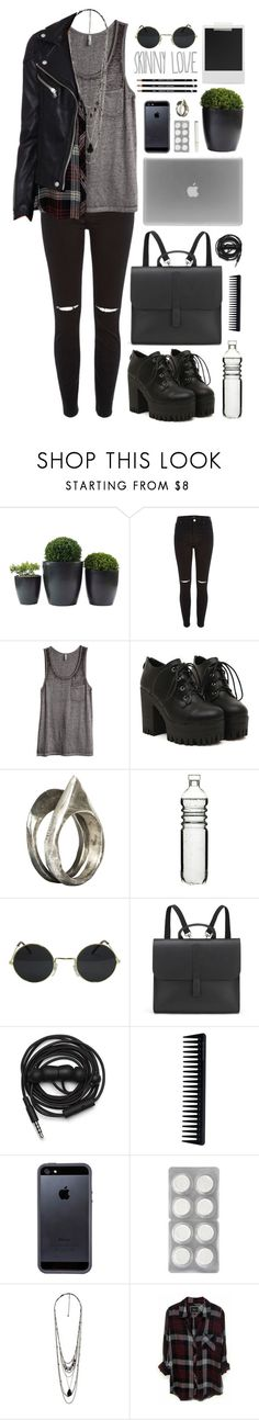 """""""grunge"""" by mara-xx ❤ liked on Polyvore featuring River Island, H&M, Unearthen, Sagaform, Polaroid, Danielle Foster, Urbanears, GHD, Tavik Swimwear and Forever 21"""