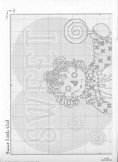 Schematic cross stitch Sweet Little Girl 02 saved Small Cross Stitch, Cross Stitch For Kids, Just Cross Stitch, Cross Stitch Needles, Cross Stitch Baby, Cross Stitch Charts, Cross Stitch Designs, Cross Stitch Patterns, Precious Moments