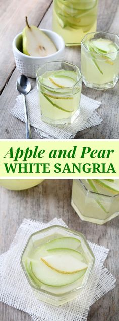 APPLE AND PEAR WHITE SANGRIA Fall isn't just about the solace nourishment and pumpkin pastries… Don't disregard getting a charge out of an invigorating Fall mixed drink … Non Alcoholic Drinks, Wine Drinks, Cocktail Drinks, Cocktail Recipes, Apple Cocktails, Martini Recipes, Drink Recipes, Avocado Smoothie, Yummy Drinks