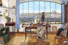 Picasso's+Studio+(Blvd+Clichy-Paris,+1910)1