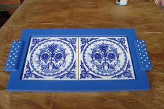 Atelier de Arte Julainne: Artesanato com azulejos - bandejas