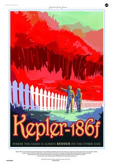 Kepler-186f in un poster della Nasa