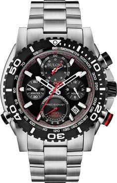 Bulova Watch Precisionist S #30-percent-discount #bezel-unidirectional #bracelet-strap-steel #brand-bulova #bulova-core-line #case-depth-16mm #case-material-steel #case-width-47-5mm #chronograph-yes #classic #date-yes #delivery-timescale-4-7-days #dial-colour-black #gender-mens #movement-quartz-battery #new-product-yes #official-stockist-for-bulova-watches #packaging-bulova-watch-packaging #sale-2014-15 #sale-item-yes #style-sports #subcat-precisionist #supplier-model-no-98b212…