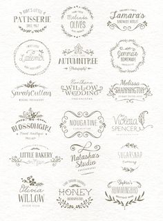 I love the font and style of the Autumntree Wedding Willow and the font for Sha - Fonts - Ideas of Fonts - I love the font and style of the Autumntree Wedding Willow and the font for Shannington. Buy them at Creative Market Part of a designers Kit Hand Lettering Anleitung, Web Design, Logo Design, Graphic Design, Logo Inspiration, Impression Etiquette, Etiquette Vintage, Wedding Logos, Branding Kit