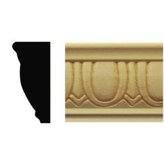 House of Fara 7/8 in. x 1-7/8 in. x 8 ft. Basswood Egg and Dart Chair Rail Moulding-799 - The Home Depot