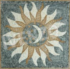 Mosaik GK001 Sonne-Mond-Sterne