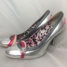 59c5eeb039d4d Details about Fornarina Tokidoki Ladies Silver Heels Shoes Size EUR 40 Rare  Italy Formal US 10