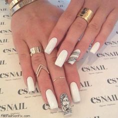 Latest 2015 nail art Sheek white nails | Easy Fashion Style Trend ...