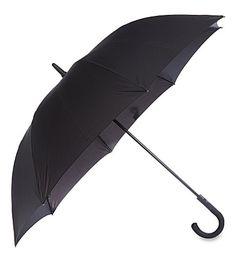 Fulton Knightsbridge Crook Handle Umbrella In Black Travel Light, Fulton, Handle, Black, Black People, Door Knob