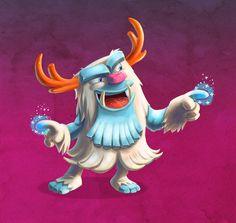 Larsson Portfolio - Yeti illustration test Fireworks, Illustration, Greece, Fictional Characters, Greece Country, Illustrations, Fantasy Characters, Character Illustration