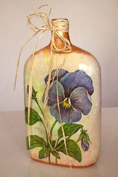 Decoupage Bottles | decoupage bottle | Flickr - Photo Sharing!