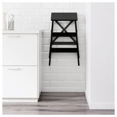 IKEA - BEKVÄM Stepladder, 3 steps black