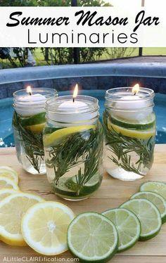 Summer Mason Jars Luminaries