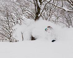 @jodywachniak enjoying the bottomless powder in the trees of Japan. Photo: @chadchomlack #twsnow