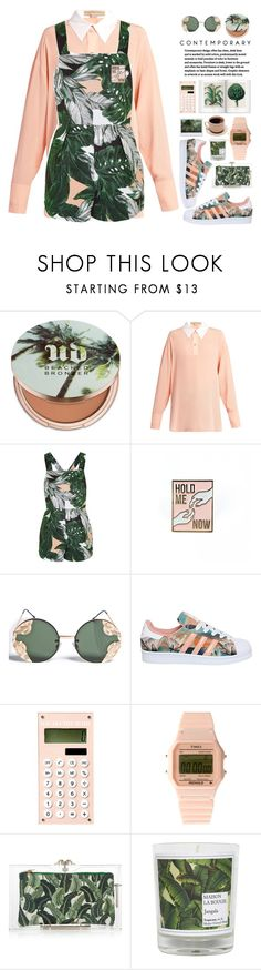 """c o n t e m p o r a r y"" by riasgremoryx ❤ liked on Polyvore featuring Urban Decay, STELLA McCARTNEY, Topshop, Spitfire, adidas, Timex 80, Charlotte Olympia, Maison La Bougie, contemporary and vintage"