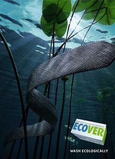 Ecover Detergent: Wash Ecologically.   Advertising Agency: Springer & Jacoby Werbung, Germany