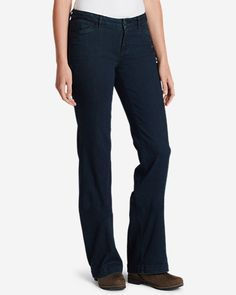 Superior cotton blended with TENCEL lyocell, polyester, and spandex creates our StayShape Elysian stretch denim, and the best-fitting jeans ever. The look of classic denim, with the perfect fit after every wearing.  Eddie Bauer