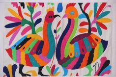Rainbow colored Otomi oversized Sham by CasaOtomi on Etsy