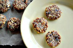 Almond Apricot No-Bake Cookies - simple, make in blender. Should have all ingredients on hand: Dried apricots, almonds, almond butter, maple syrup, raisins, oats. Try substituting dates for raisins and/or adding chocolate chips. Vegan, gluten free.